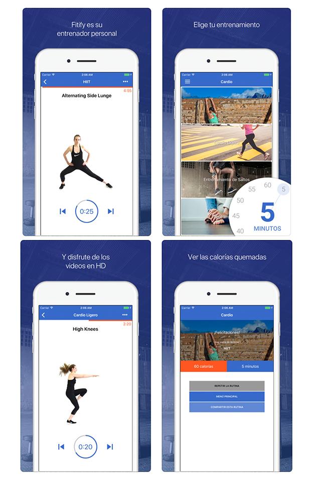 HIIT y cardio apps para hacer ejercicio en casa