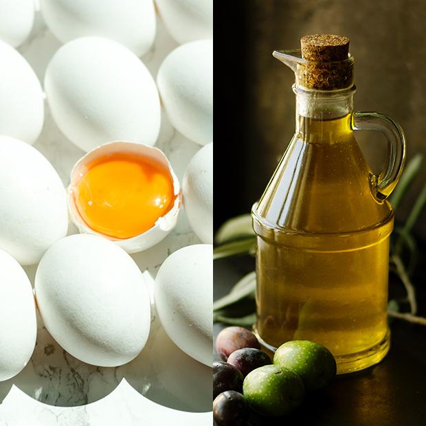 mascarillas caseras para el pelo Yema de huevo con aceite de oliva