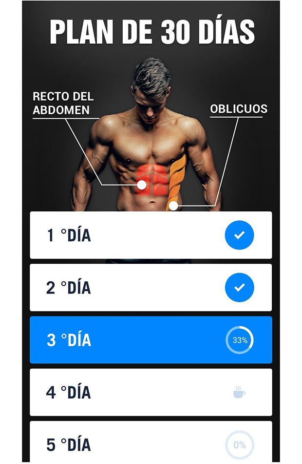 Abdominales en 30 días apps para hacer ejercicio en casa