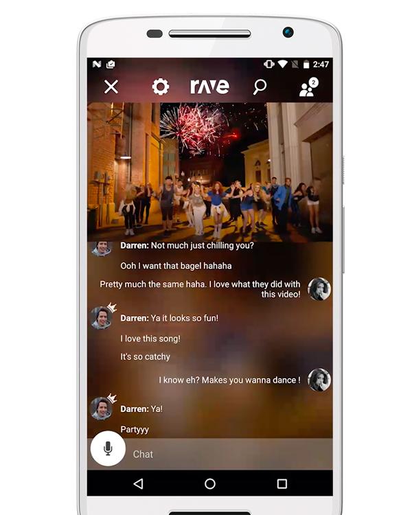 rave apps para hacer videollamadas