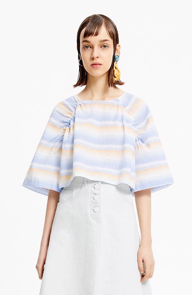 camisa de rayas de colores bimba y lola camisas ideales primavera verano