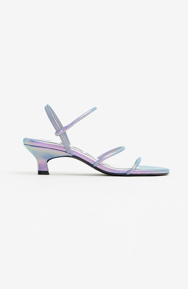 bimba y lola sandalia iridiscentes zapatos de invitada para verano