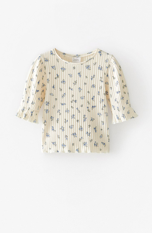 Blusa flores Zara Kids novedades primavera 2020