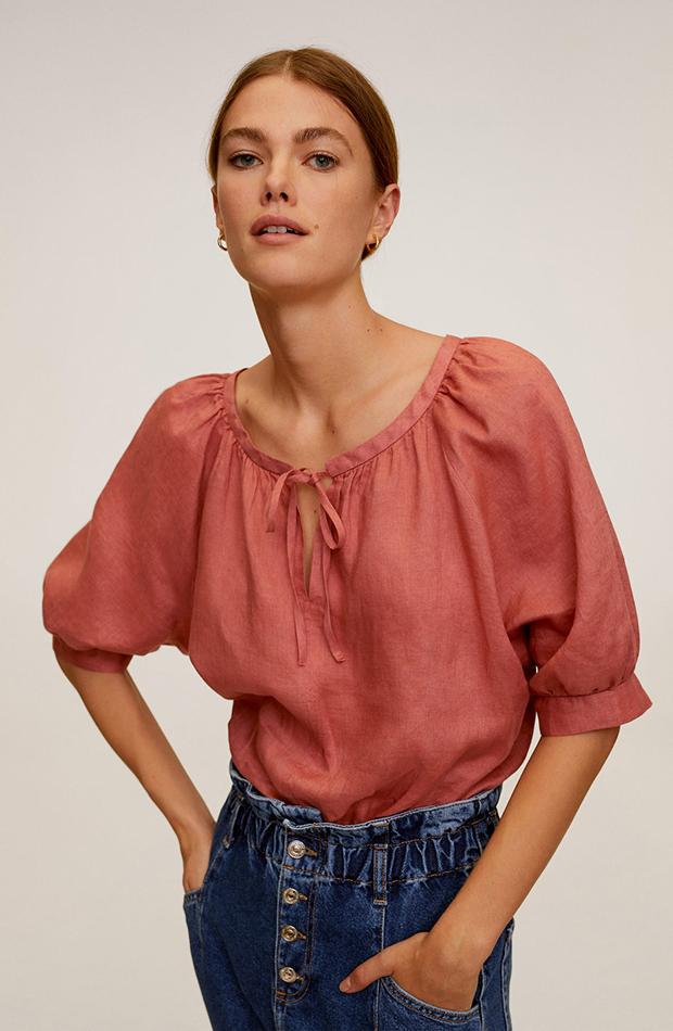 blusa lino rosa mango camisas ideales primavera verano