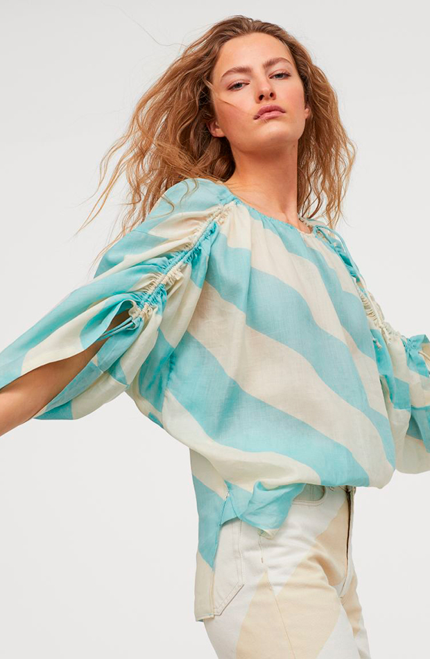 blusa rayas azules hm studio collection camisas ideales primavera verano