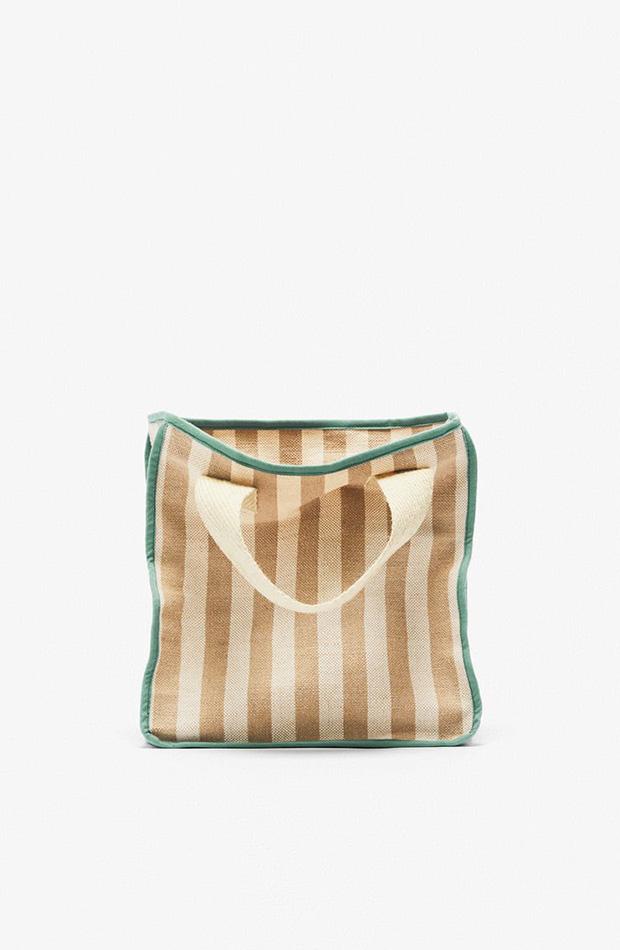 Bolso shopper de rayas colección primavera 2020 Zara Kids