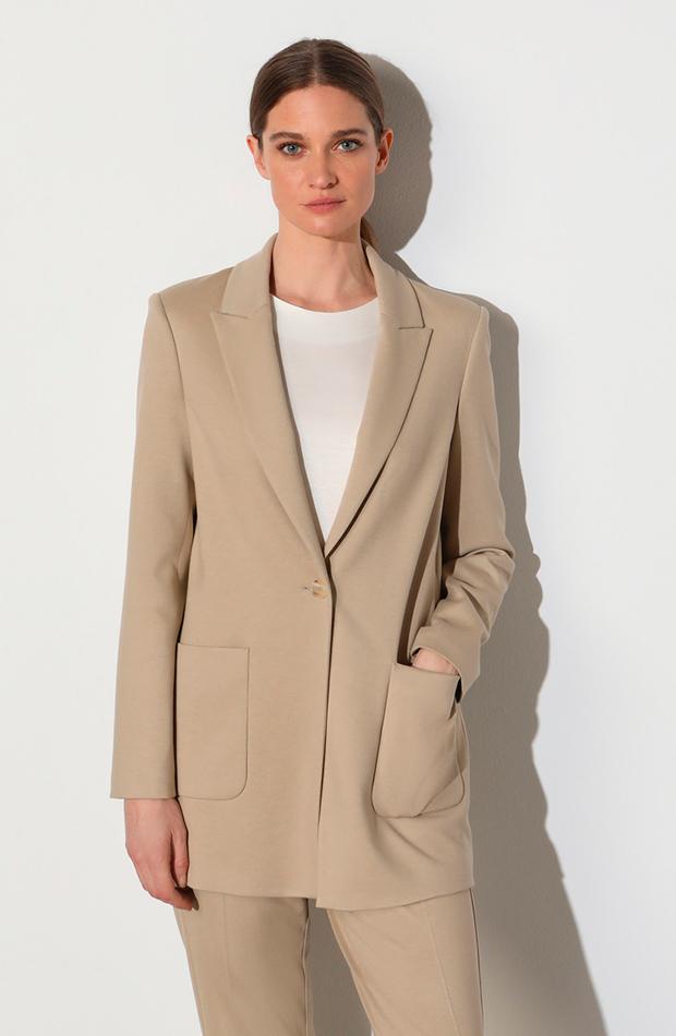 cambio de armario básicos blazer larga de mujer en color beige woman limited el corte ingles