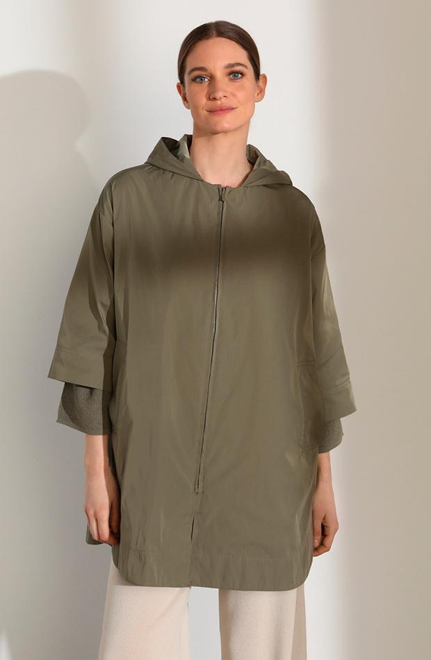 cambio de armario básicos parka de mujer con capucha y cierre de cremallera woman limited el corte ingles