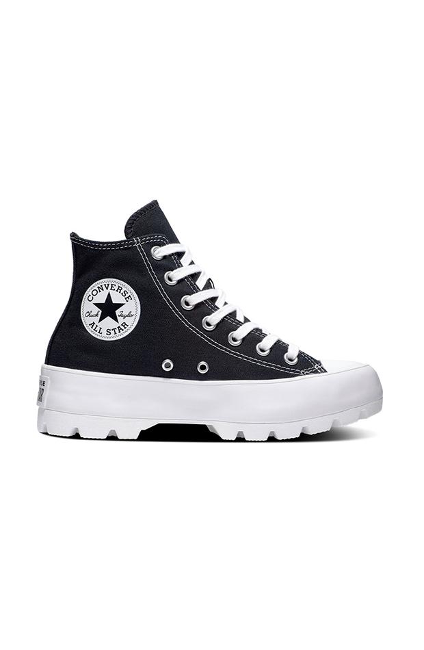 cambio de armario basicos zapatillas casual de mujer con plataforma lugeed basic alta converse