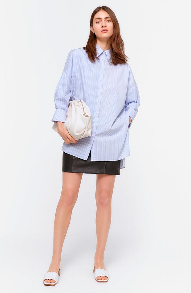 camisa de rayas azul uterqüe camisas ideales primavera verano