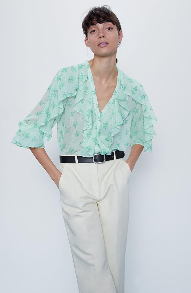 camisa estampado flores verdes zara camisas ideales primavera verano