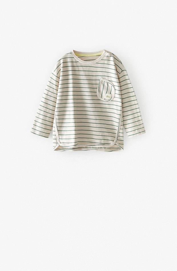 Camiseta básica rayas niño colección primavera 2020 Zara Kids