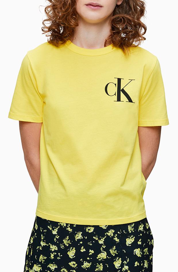 camiseta de mujer de algodon escote redondo calvin klein mas color de el corte inglés