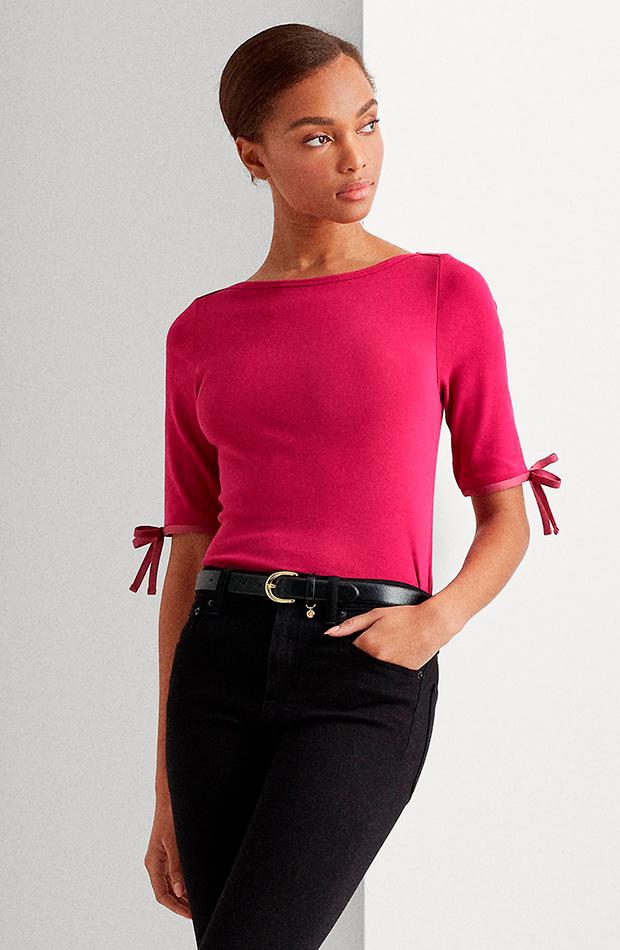 camiseta de mujer lisa y manga francesa ralph lauren mas color de el corte inglés