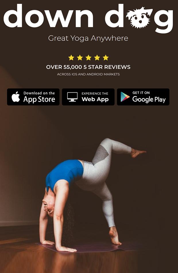 Down dog apps para hacer ejercicio en casa
