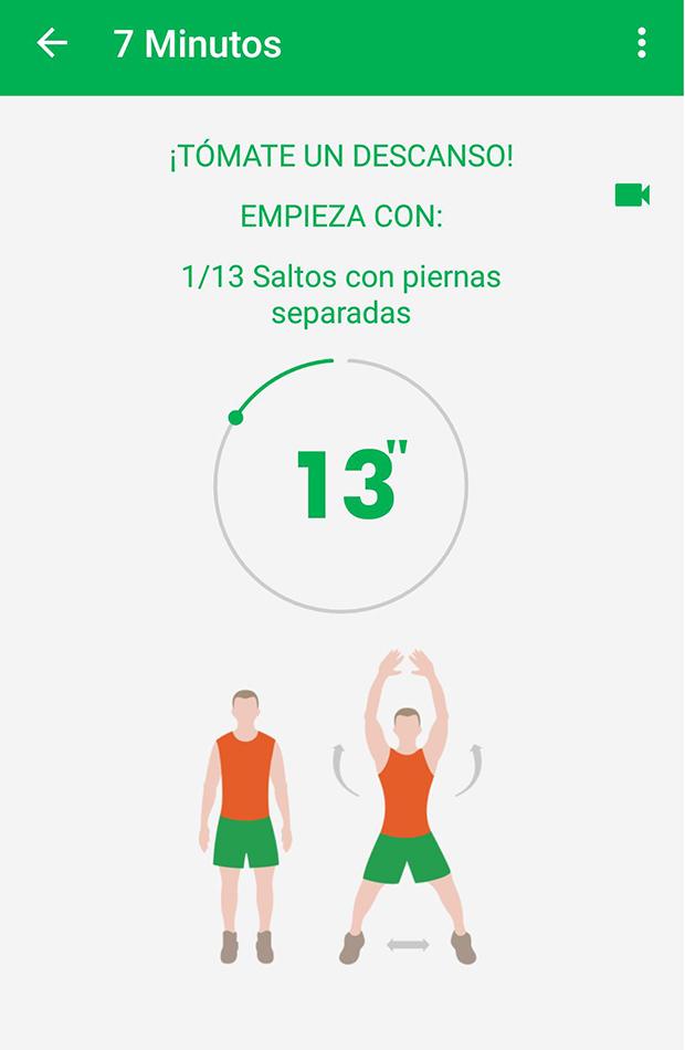 entrenamiento de 7 minutosvapps para hacer ejercicio en casa