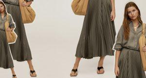 Las faldas midi seguirán esta temporada en nuestro armario