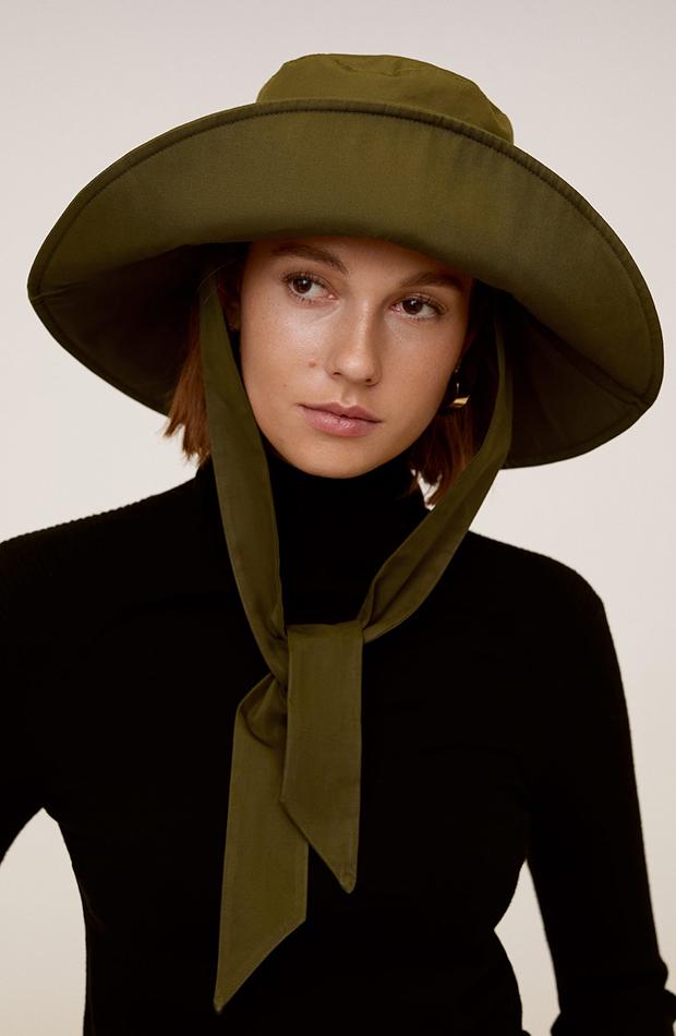gorro bucket hat lazo verde militar novedades de mango primavera