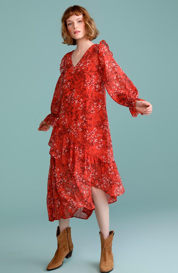 invitada perfecta primavera vestido estampado flores manga larga tintoretto
