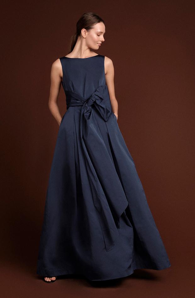 invitada perfecta primavera vestido largo con lazo en la cintura woman el corte inglés