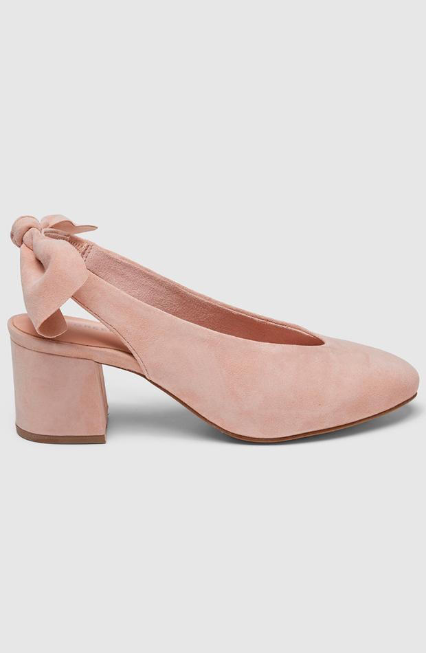 invitada perfecta primavera zapatos de salon de mujer green coast destalonados en ante rosa