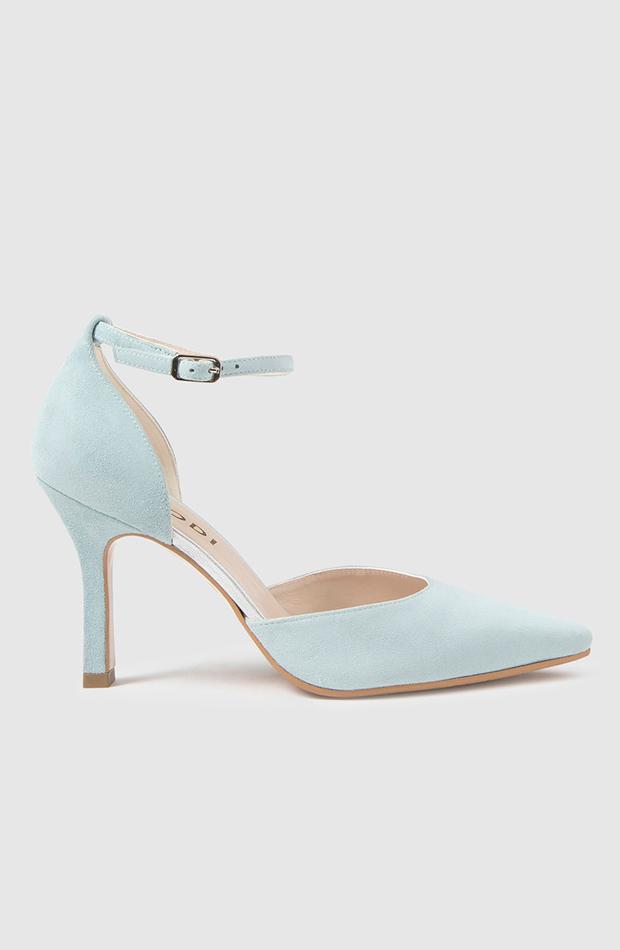 invitada perfecta primavera zapatos de salón de mujer lodi en piel de color azul celeste