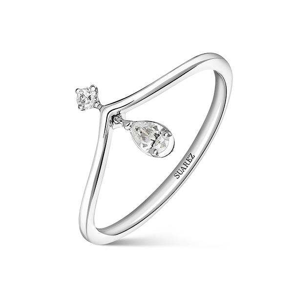 Joyas con diamantes de Suarez: Anillo de Elia
