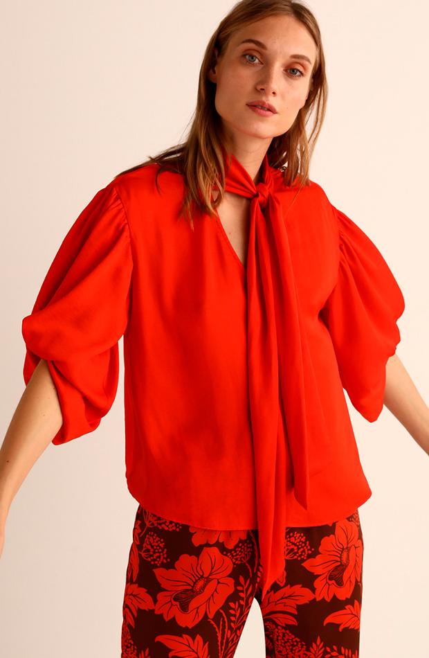 más color de el corte inglés bluson de mujer en color naranja con lazo amitie