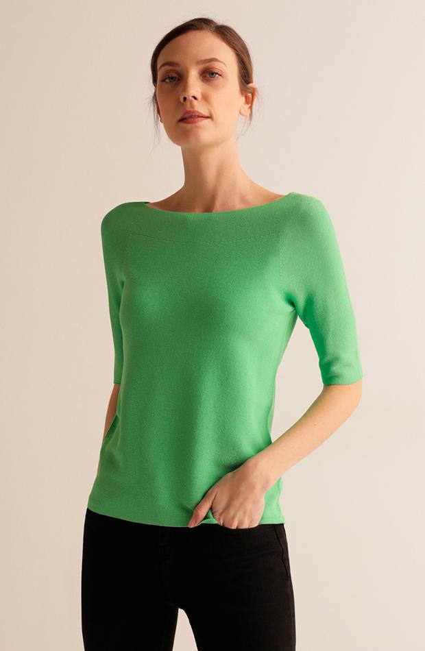 más color de el corte inglés jersey de mujer de punto otoman con cuello barca escorpion