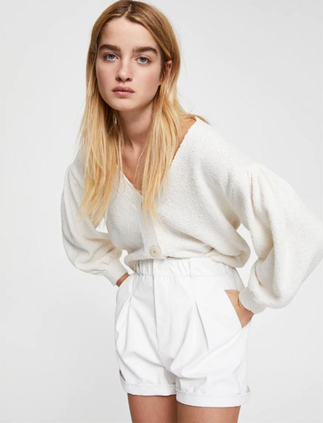 Mini shorts En blanco de Pull&Bear