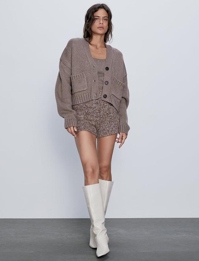 Mini Shorts de punto de Zara