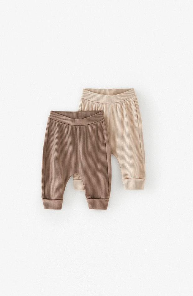 Pack dos leggins de bebé colección primavera 2020 Zara Kids