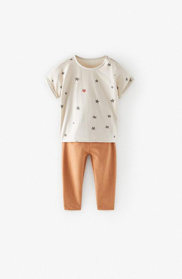Pack pantalón y camiseta de estrellas colección primavera 2020 Zara Kids