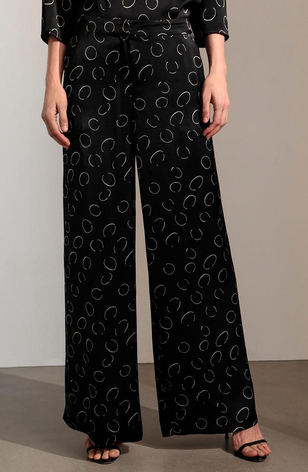 pantalón palazzo de mujer con estampado de círculos woman limited el corte ingles cambio de armario básicos