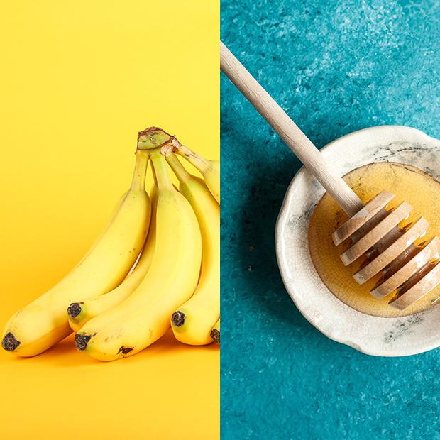mascarillas caseras para el pelo Plátano con miel