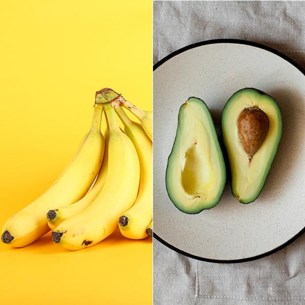 mascarillas caseras para el pelo Plátano con aguacate
