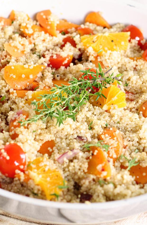 quinoa con tomate fruta recetas veganas deliciosas
