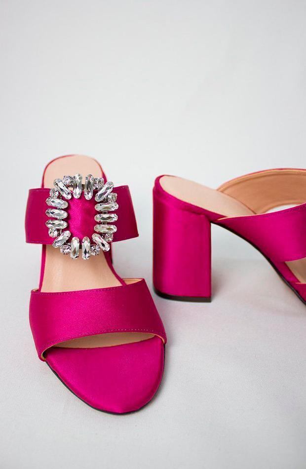 sandalias joya versailles fucsia laagam zapatos invitada para verano
