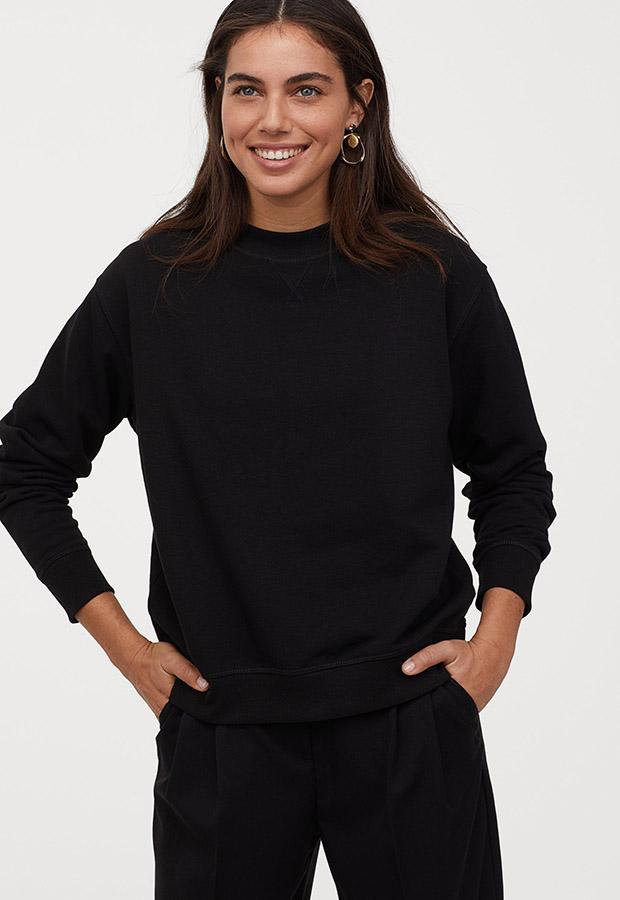 Sudadera básica en negro de H&M