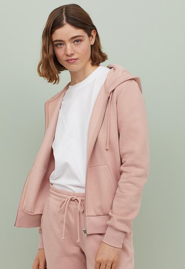 Sudadera en color rosa de H&M