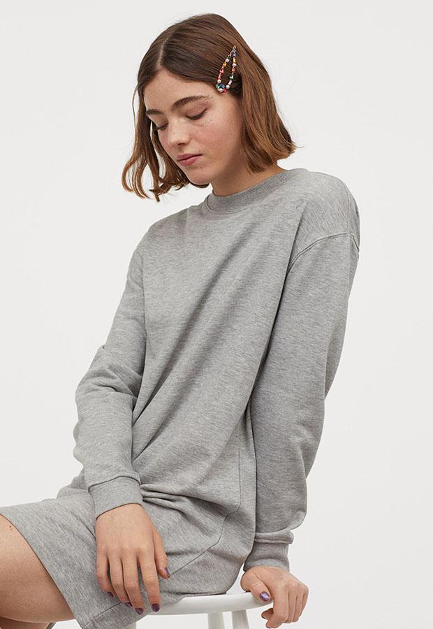 Sudadera vestido de H&M gris