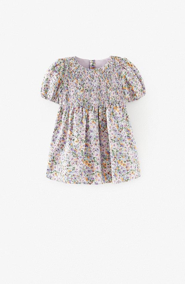 Vestido de cuello redondo para niña de la colección primavera 2020 Zara Kids