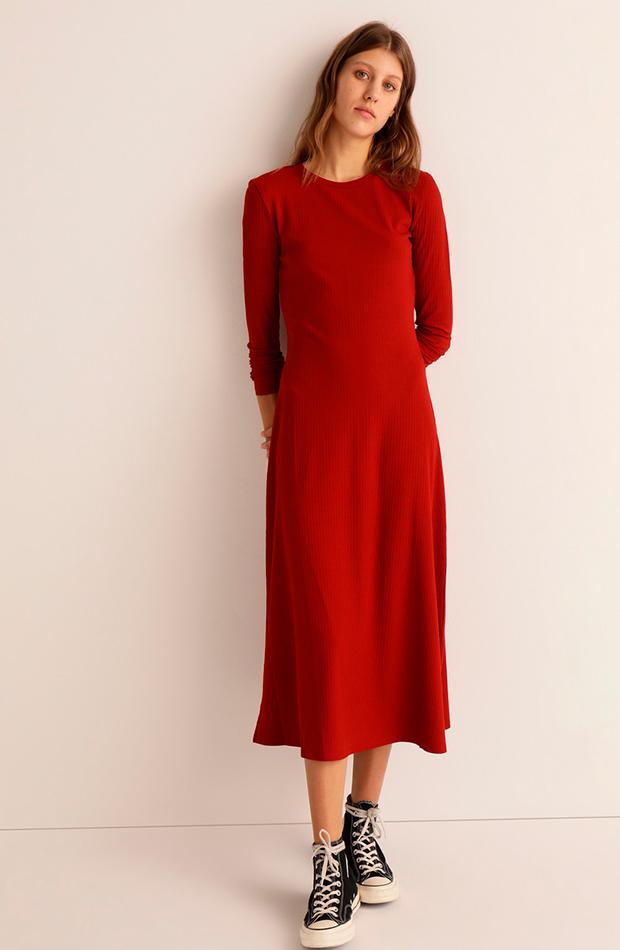 vestidos versátiles vestido canalé largo easy wear