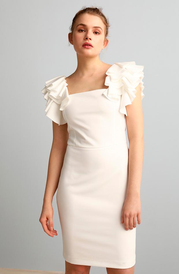 vestidos versátiles vestido corto con volantes fórmula joven