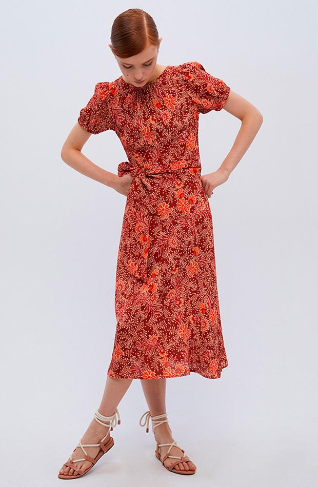 vestidos versátiles vestido print viscosa sfera