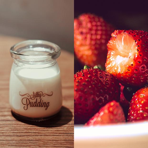 mascarillas capilares caseras Yogur con fresas