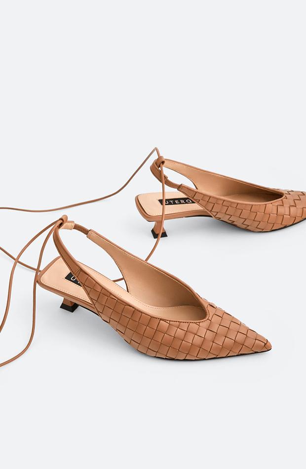 zapato destalonado trenzado uterque zapatos de invitada para verano