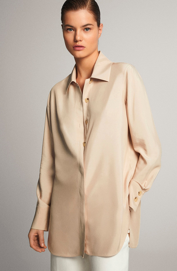 bluson beige massimo dutti prendas cómodas