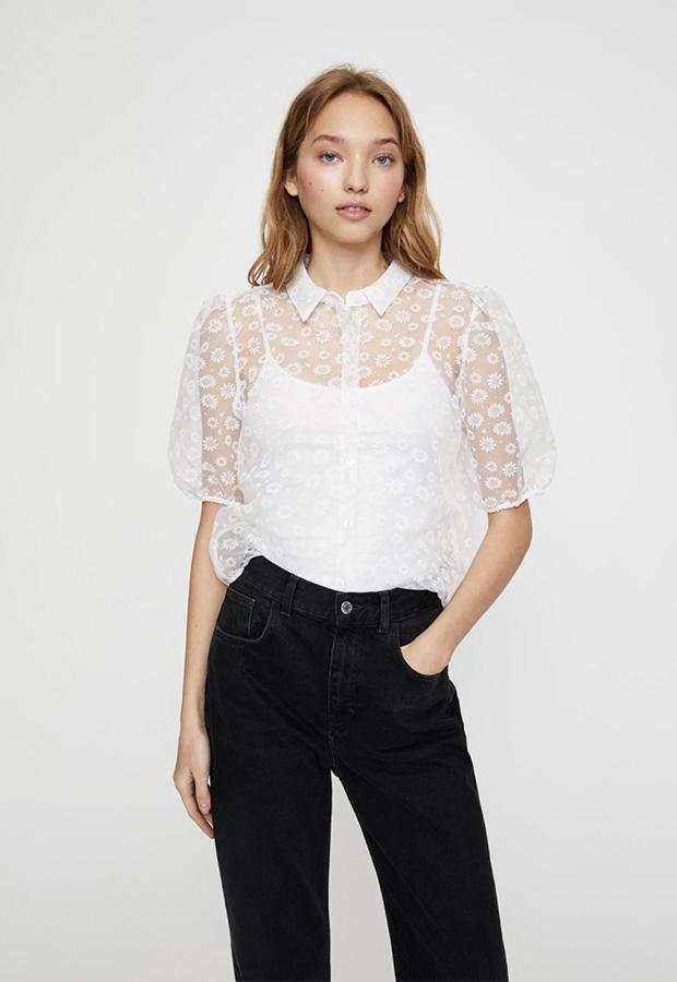 Camisa transparente de Pull & Bear