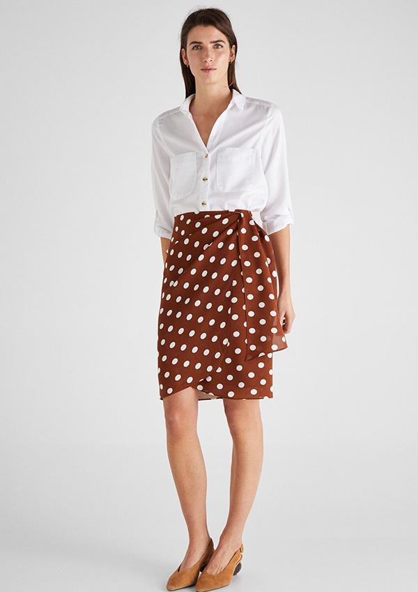 Falda cruzada de H&M